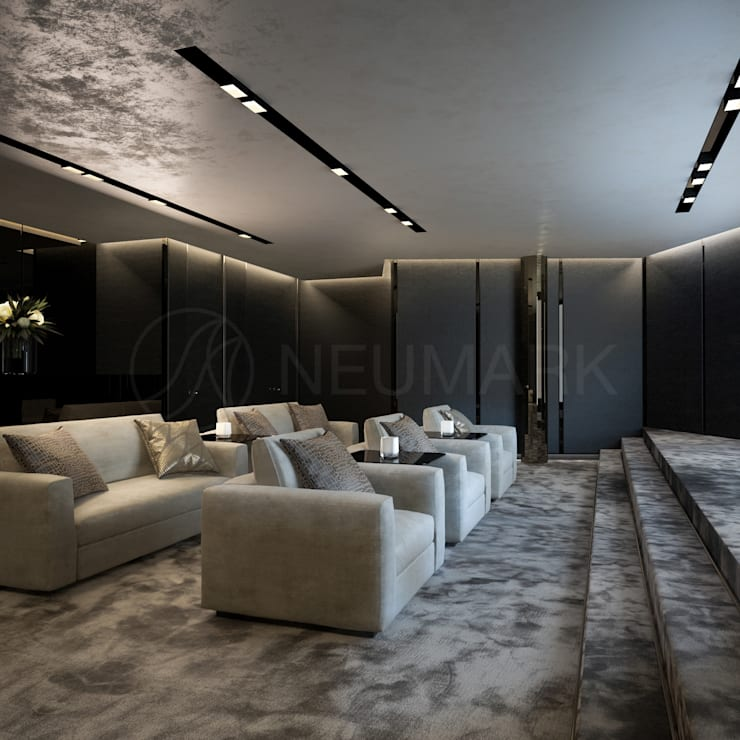 Bowmont Residence, LA, USA: Медиа комнаты в . Автор – Anton Neumark