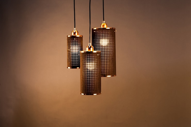 Sparkle serie - Ø100x200mm/Ø125x250mm/Ø150x300mm - Wenge/Koper:  Woonkamer door DesignStudioVandaag