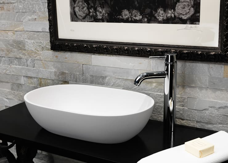 Cloud Stone Basin :  Bathroom by Waters Baths of Ashbourne