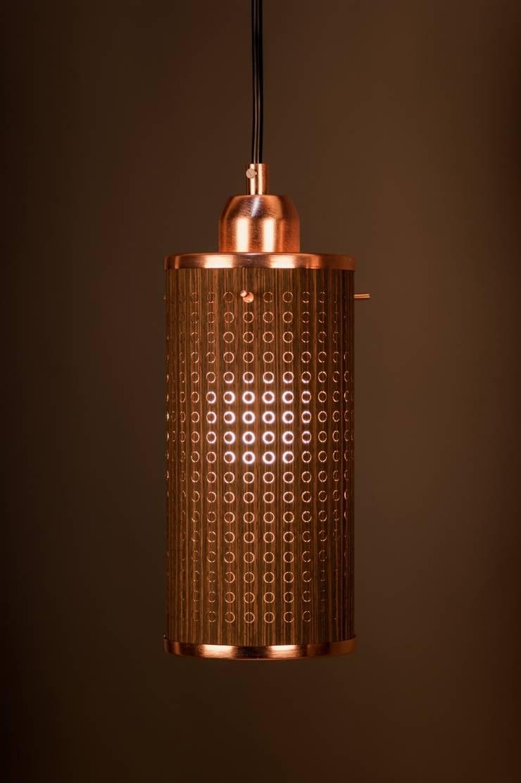 Sparkle100 - Ø100x200mm - Wenge/Koper:  Woonkamer door DesignStudioVandaag