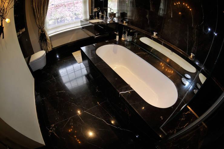 Black Marble Bathroom, Orset: modern Bathroom by Ogle luxury Kitchens & Bathrooms
