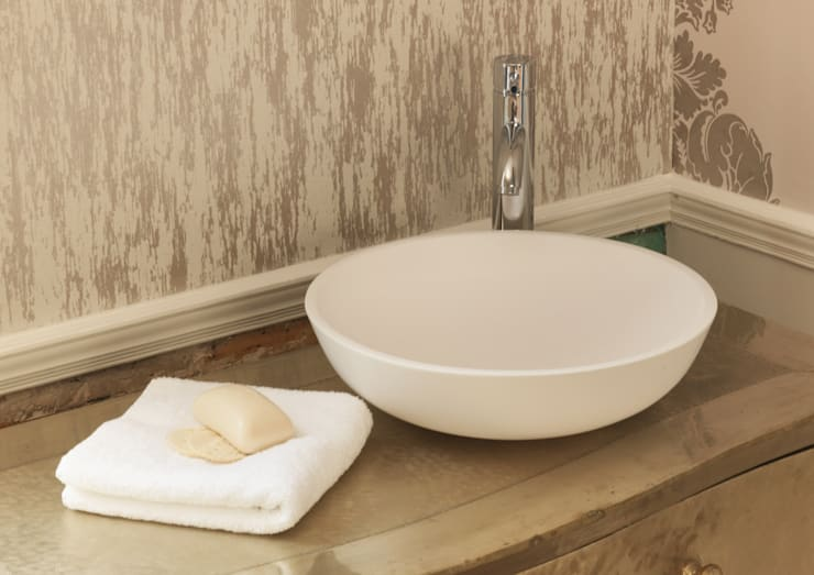Luna Stone Basin:  Bathroom by Waters Baths of Ashbourne