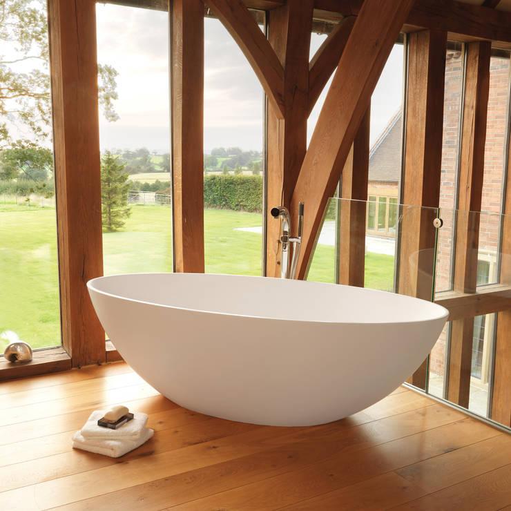 Ellipse Stone Bath:  Bathroom by Waters Baths of Ashbourne