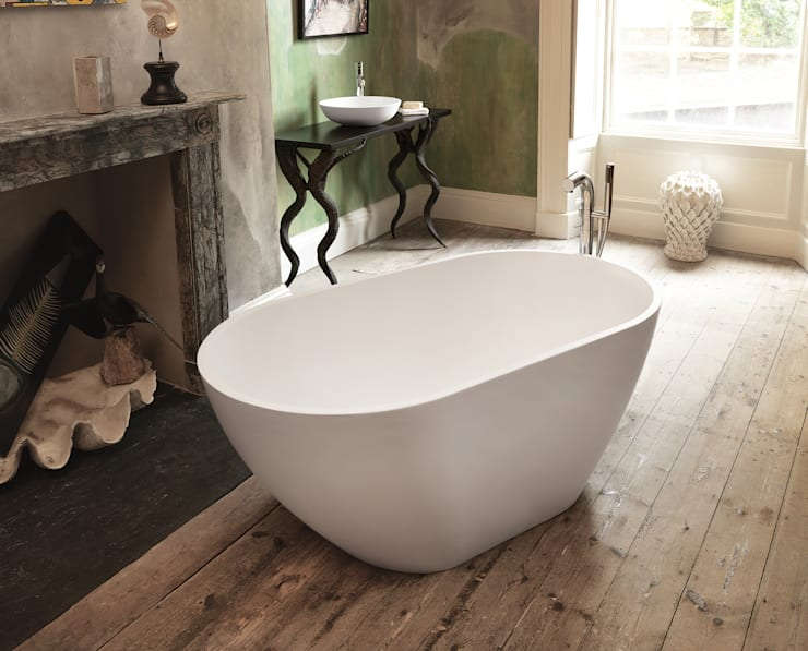 Mist Stone Bath:  Bathroom by Waters Baths of Ashbourne