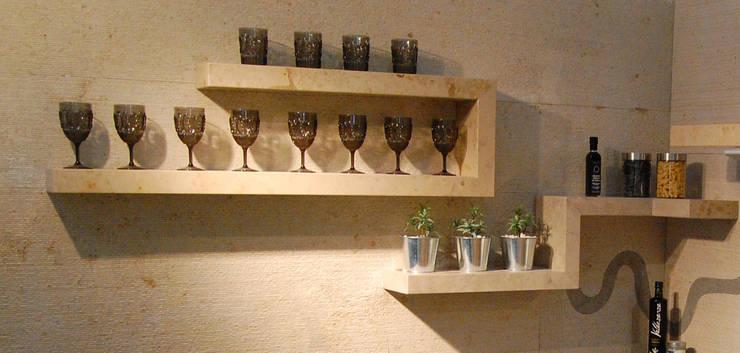 Stone shelves:  Kitchen by Ogle luxury Kitchens & Bathrooms