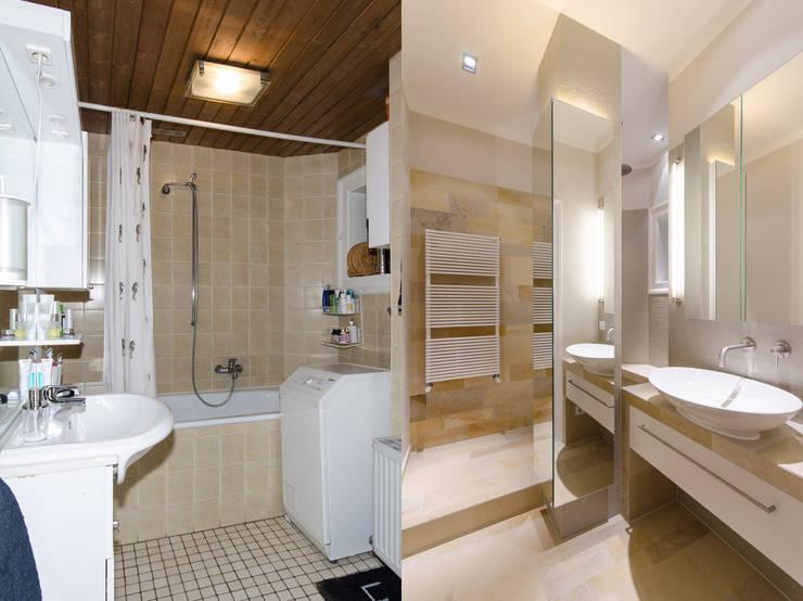Prima e dopo bagni anni finalmente ristrutturati