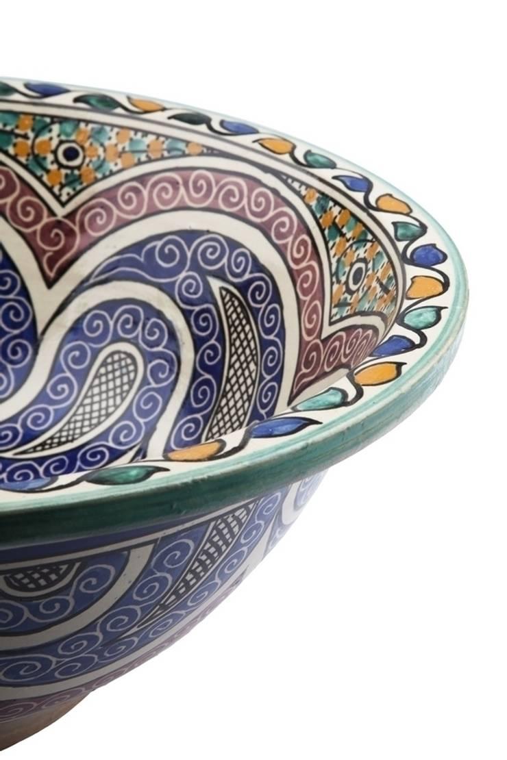 Aisa - Designerska umywalka z Maroko II: styl , w kategorii Łazienka zaprojektowany przez Kolory Maroka