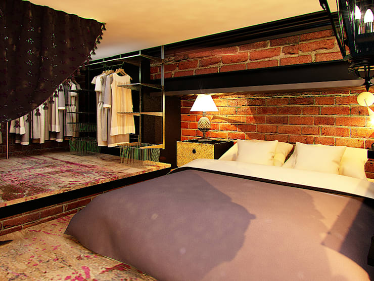 Квартира в стиле LOFT в Москве: Спальни в . Автор – Anna Vladimirova