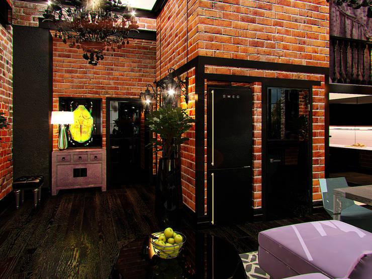 Квартира в стиле LOFT в Москве: Коридор и прихожая в . Автор – Anna Vladimirova
