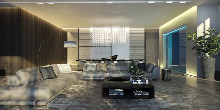 غرفة المعيشة تنفيذ Anton Neumark