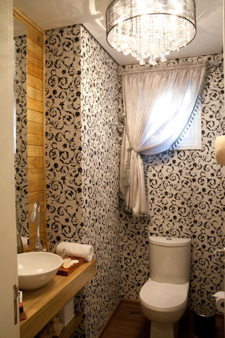 Lavabos e Banheiros: Banheiros  por ARQ Ana Lore Burliga Miranda,