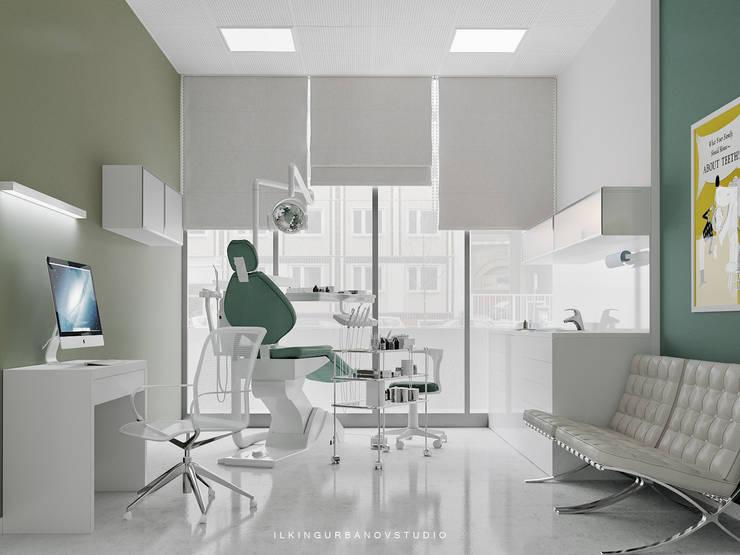 Дизайн стоматологической клиники в Баку: Кабинеты врачей в . Автор – ILKIN GURBANOV Studio