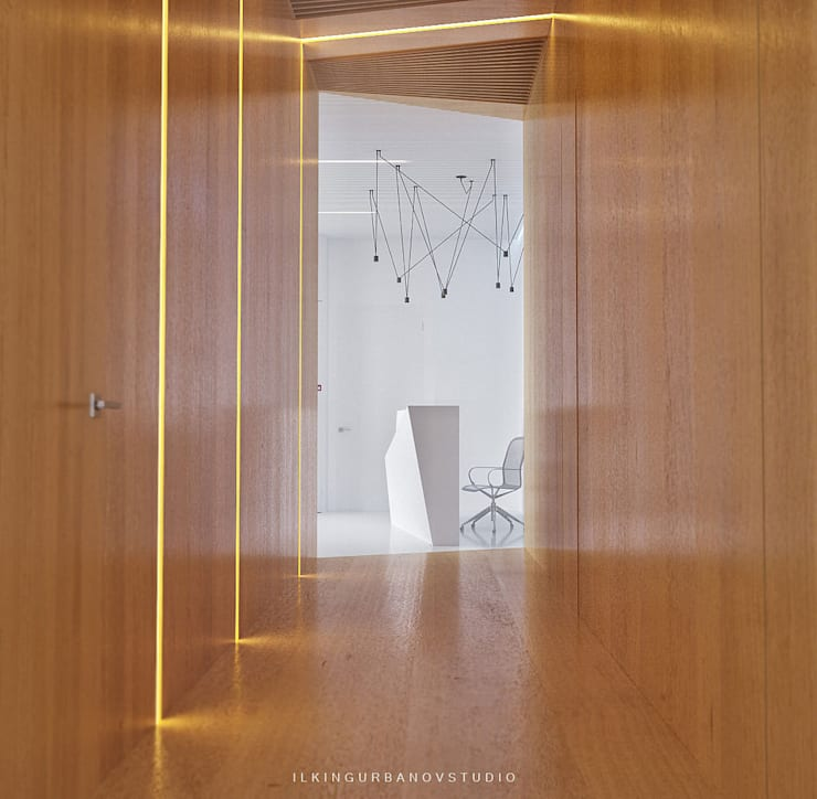 Дизайн стоматологической клиники в Баку: Коридор и прихожая в . Автор – ILKIN GURBANOV Studio