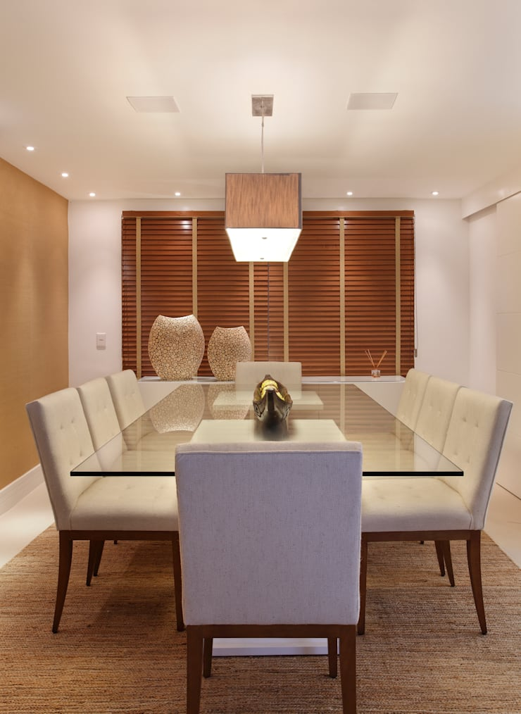 Sala de jantar: Salas de jantar modernas por Amanda Miranda Arquitetura