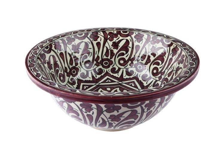 Mira - Elegancka umywalka arabska : styl , w kategorii Łazienka zaprojektowany przez Kolory Maroka