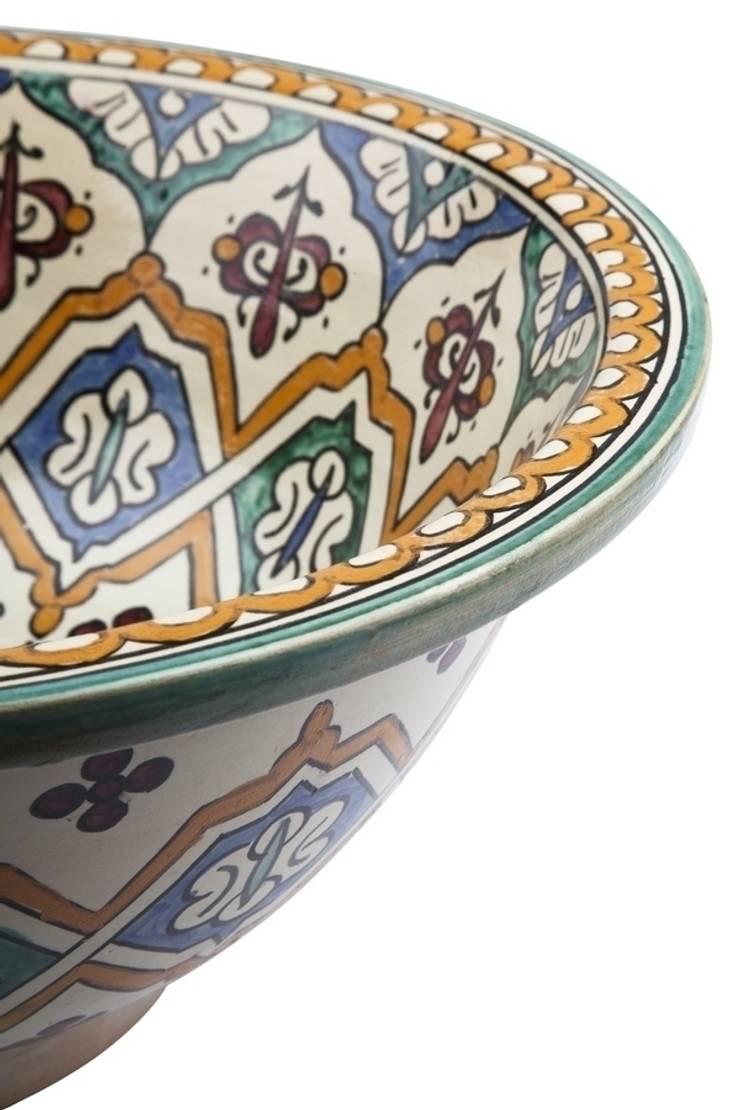 Binya - Orientalna umywalka arabska : styl , w kategorii Łazienka zaprojektowany przez Kolory Maroka