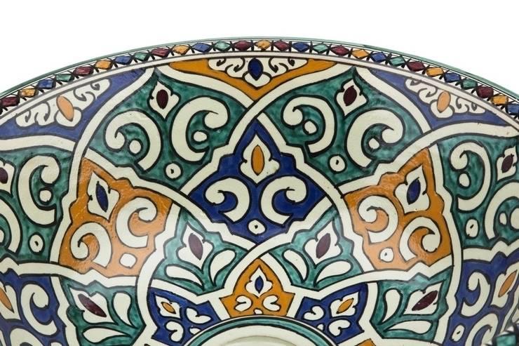 Talia - Designerska umywalka II: styl , w kategorii Łazienka zaprojektowany przez Kolory Maroka