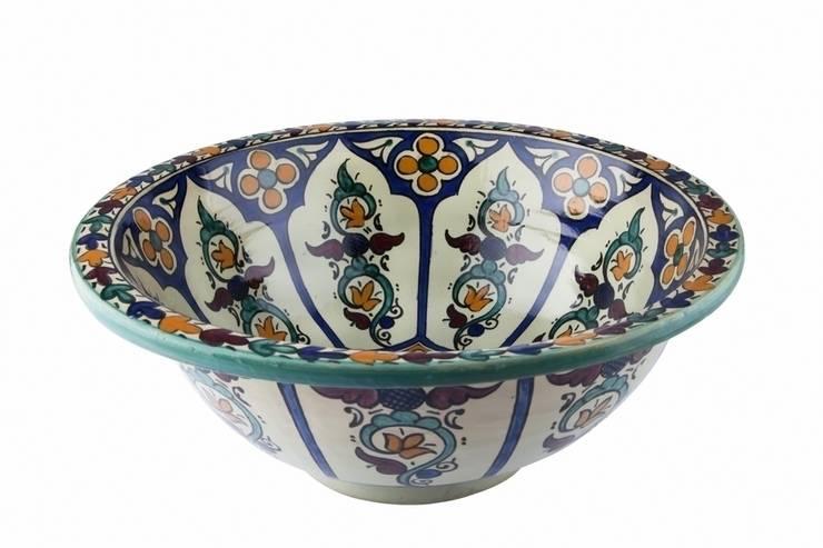 Dilma - Umywalka ceramiczna z Maroka: styl , w kategorii Łazienka zaprojektowany przez Kolory Maroka