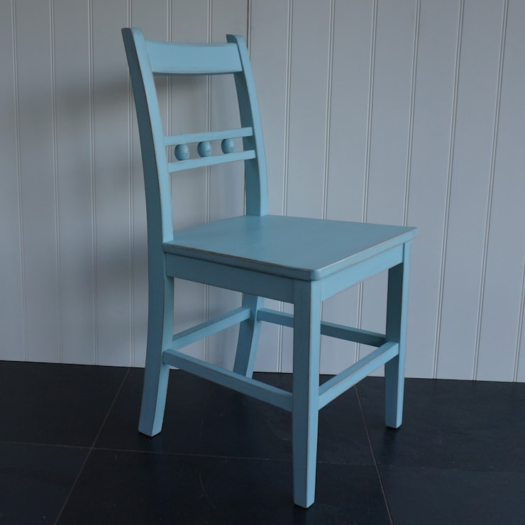 Ball Back Dining Chair:  Dining room by Rectory Blue