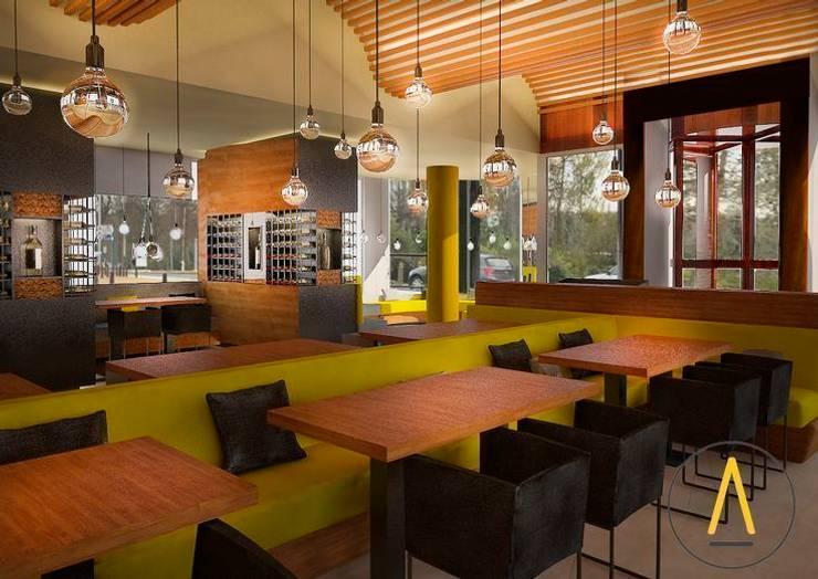 Restaurente en Bruselas: Locales gastronómicos de estilo  de Acontraluz Studio
