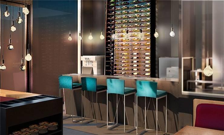 Restaurant en Cannes: Locales gastronómicos de estilo  de Acontraluz Studio