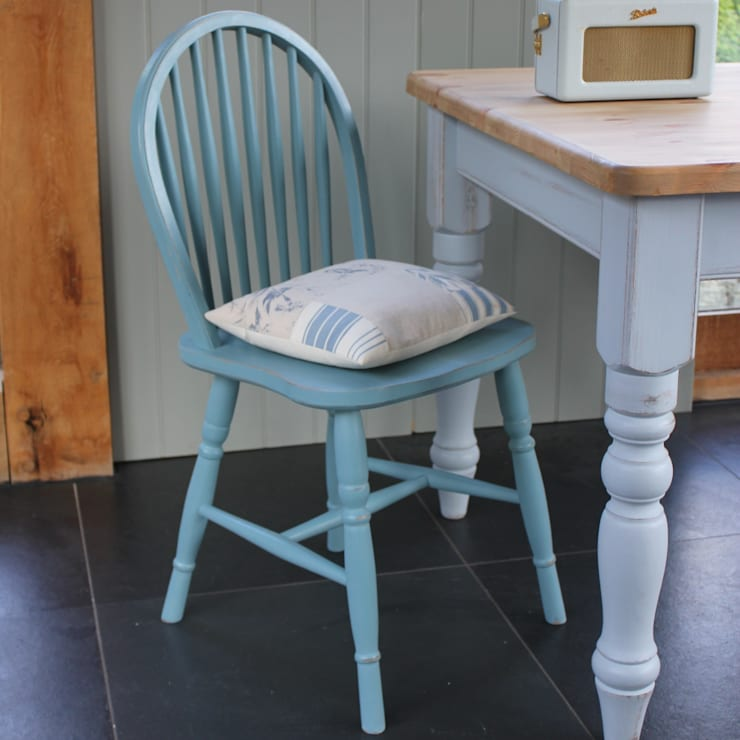 Hoop Back Dining Chair:  Dining room by Rectory Blue