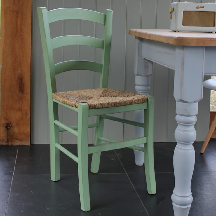 Small Italian Bistro Chair:  Dining room by Rectory Blue