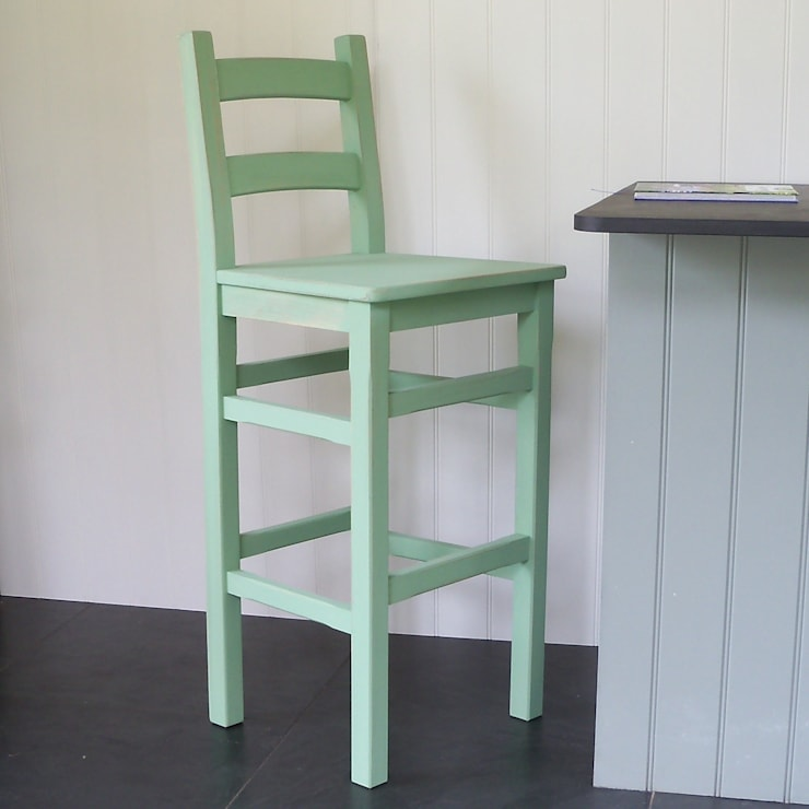 Hand Painted Bar Chair:  Kitchen by Rectory Blue