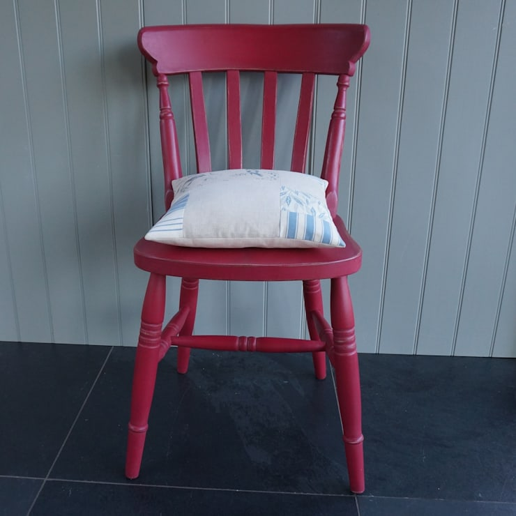 Hand painted Farmhouse Chair:  Dining room by Rectory Blue