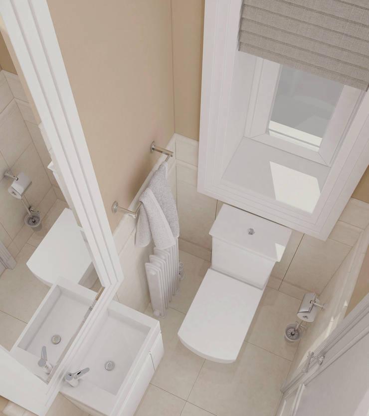 Интерьер гостевого санузла: Ванные комнаты в . Автор – Yurov Interiors
