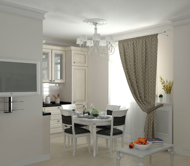 Интерьер кухни-столовой: Кухни в . Автор – Yurov Interiors
