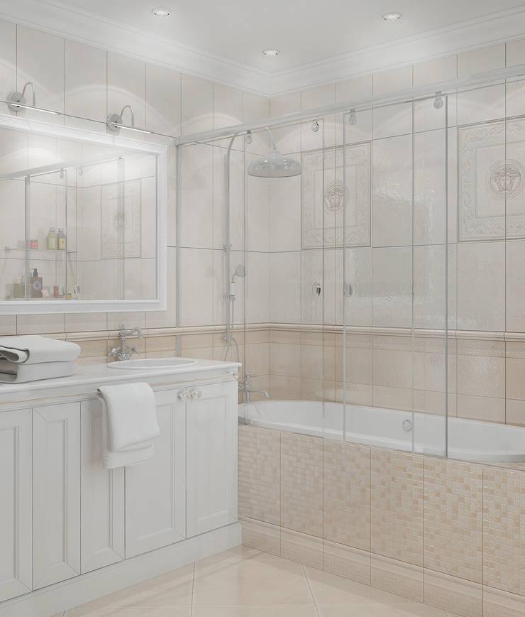 Интерьер ванной комнаты: Ванные комнаты в . Автор – Yurov Interiors