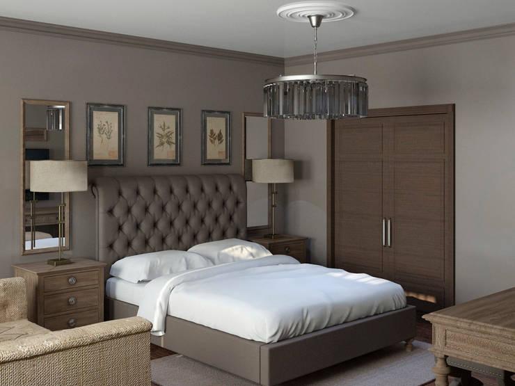 Интерьер родительской спальни: Спальни в . Автор – Yurov Interiors