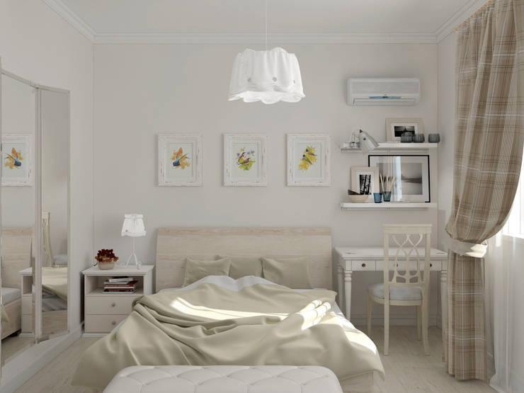 Интерьер спальни для девушки: Спальни в . Автор – Yurov Interiors