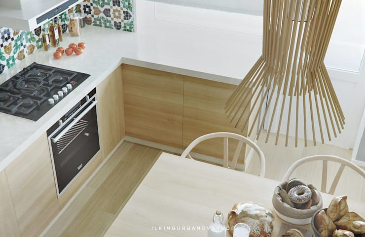 WOODEN KITCHEN: Кухни в . Автор – ILKIN GURBANOV Studio