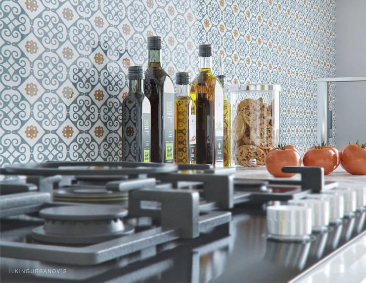 Cozinhas rústicas por ILKIN GURBANOV Studio