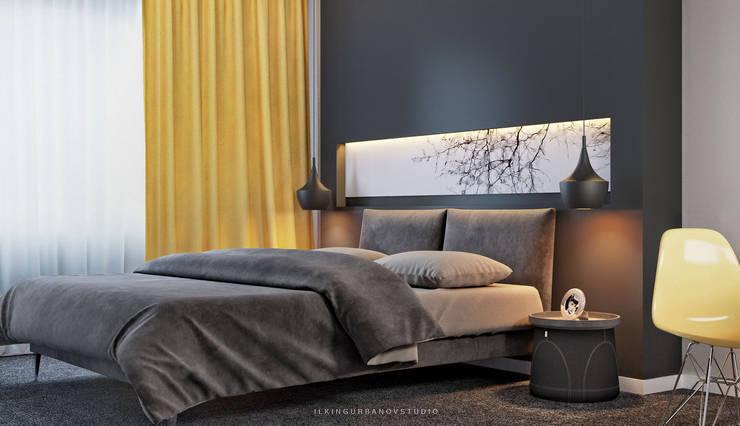 Дизайн спальной комнаты в Баку: Спальни в . Автор – ILKIN GURBANOV Studio, Модерн