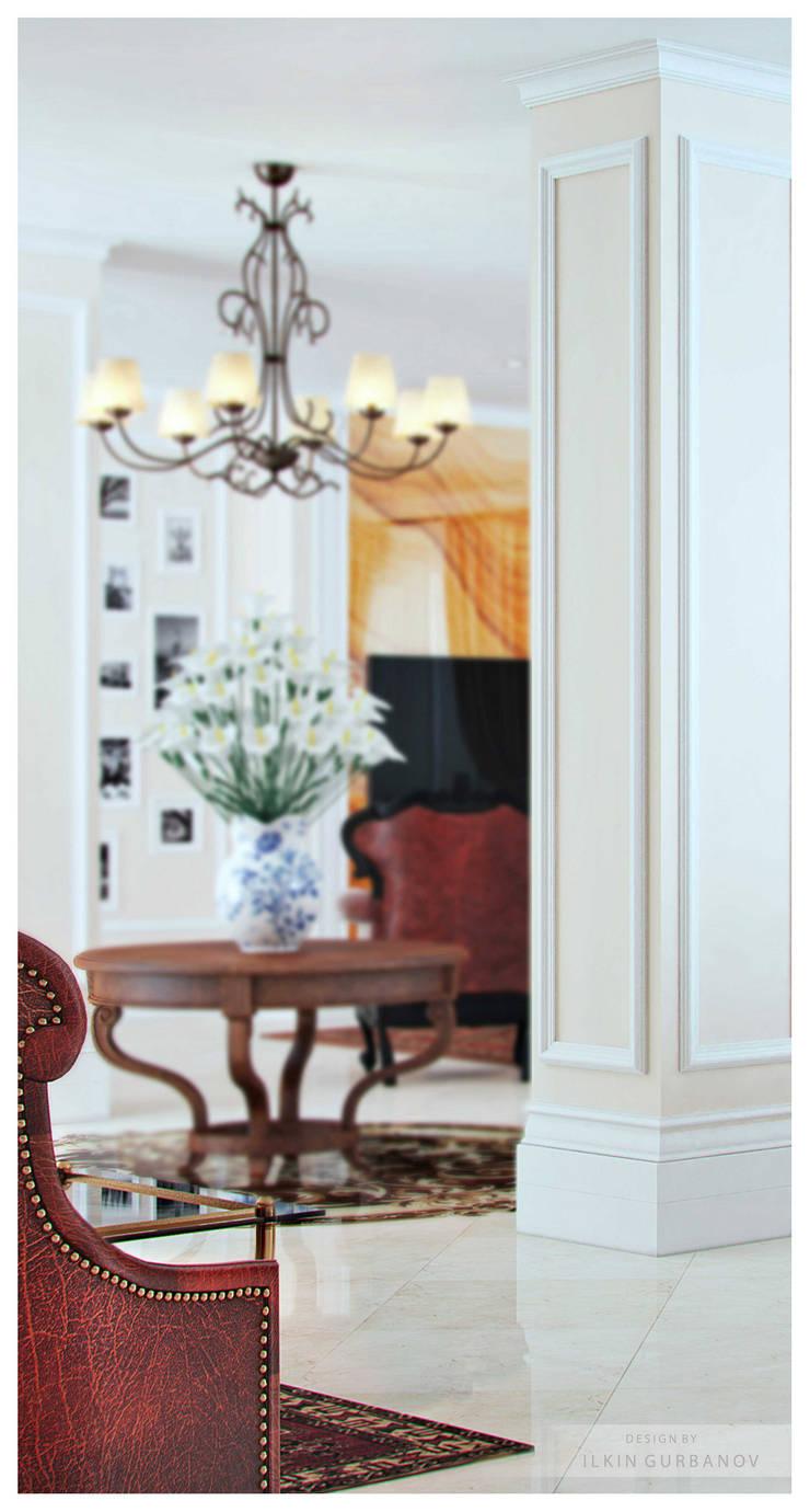 Квартира в Баку <q>Roseville</q>: Гостиная в . Автор – ILKIN GURBANOV Studio