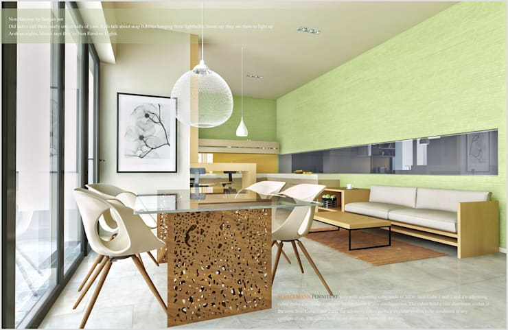 Квартира в Баку <q>Yeni Hayat</q>: Столовые комнаты в . Автор – ILKIN GURBANOV Studio, Минимализм