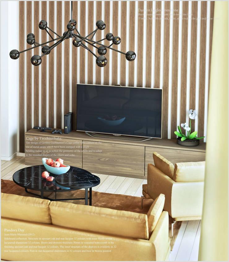 Квартира в Баку <q>Yeni Hayat</q>: Гостиная в . Автор – ILKIN GURBANOV Studio