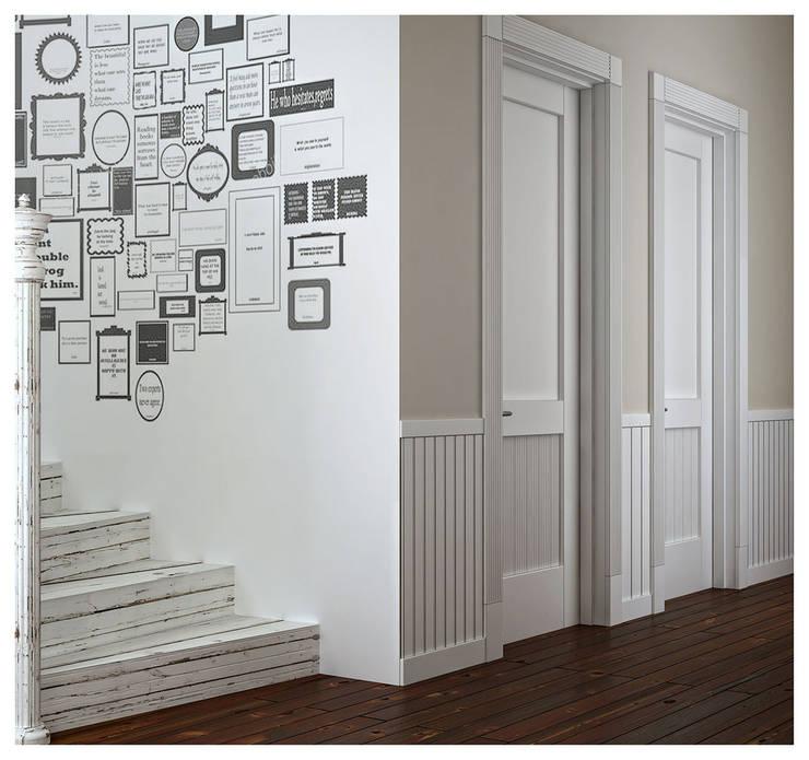 Квартира в Баку в скандинавском стиле: Коридор и прихожая в . Автор – ILKIN GURBANOV Studio