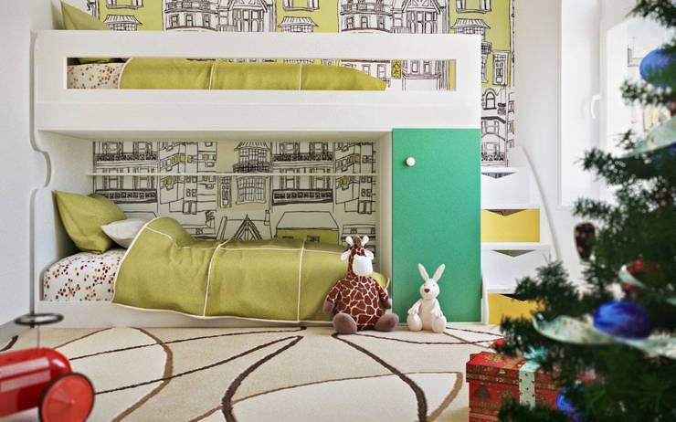 Habitaciones infantiles de estilo  por ILKIN GURBANOV Studio