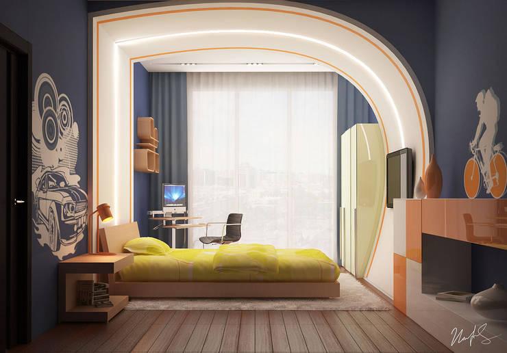 Фрагменты детских комнат в Баку: Детские комнаты в . Автор – ILKIN GURBANOV Studio