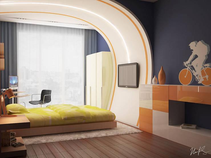 Фрагменты детских комнат в Баку: Детские комнаты в . Автор – ILKIN GURBANOV Studio,