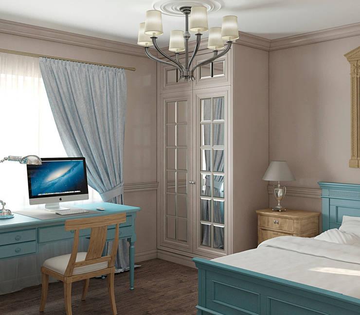 Интерьер спальни для школьника: Спальни в . Автор – Yurov Interiors