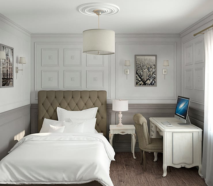 Интерьер спальни для студента: Спальни в . Автор – Yurov Interiors