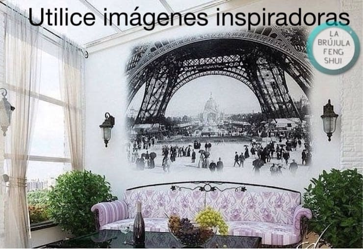 Imagen de París en el salón: Salones de estilo  de La brujula Feng Shui