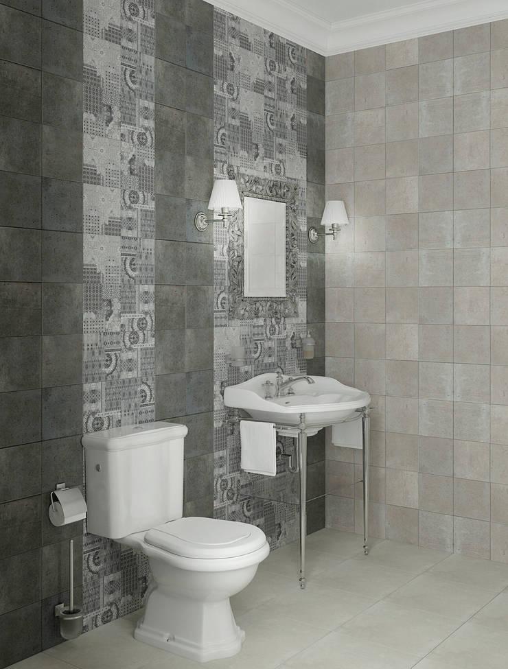 Интерьер гостевого санузла в частном доме: Ванные комнаты в . Автор – Yurov Interiors