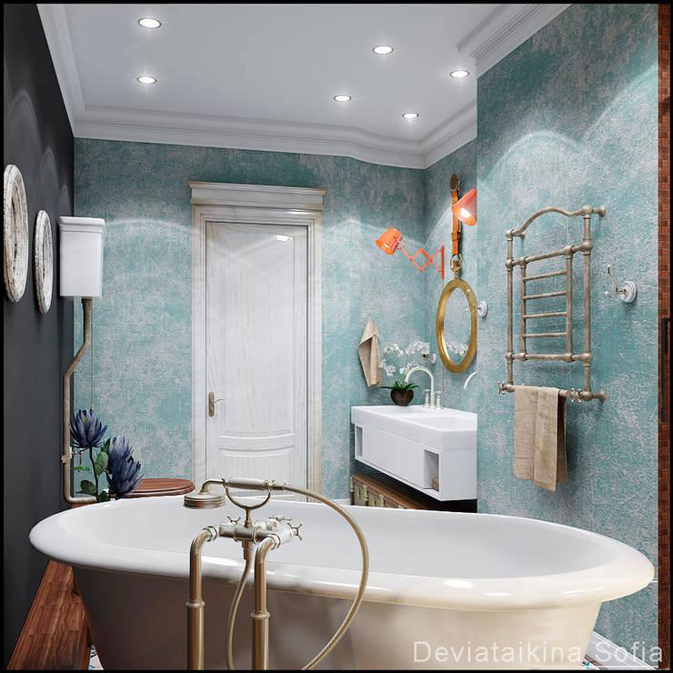 Проекты ванной: Ванные комнаты в . Автор – Девятайкина Софья ( АРТ-мастерская 'Stylishdesign')