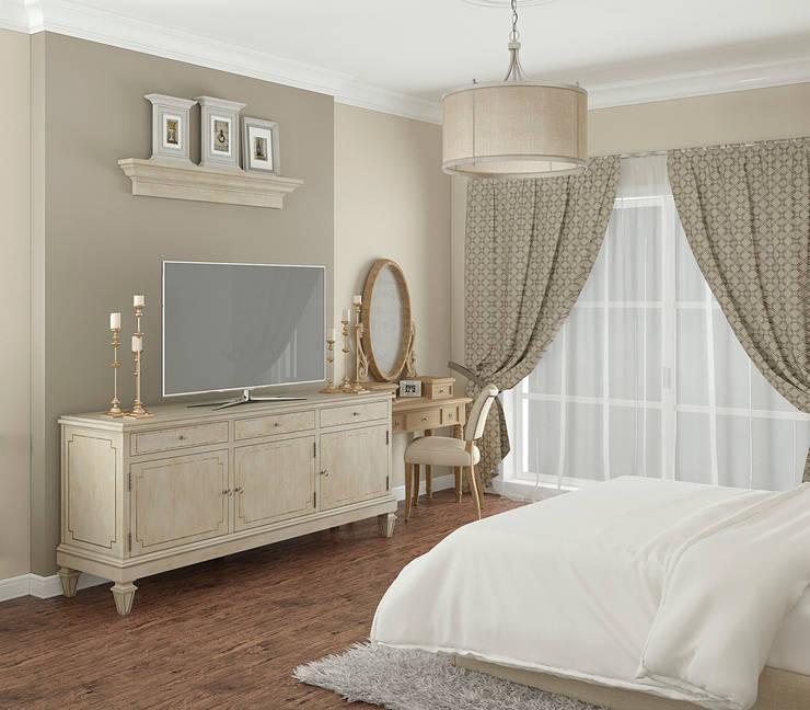 colonial Bedroom by Yurov Interiors